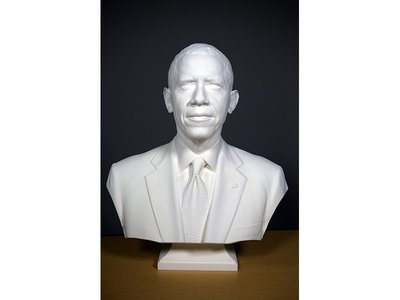The Smithsonian announced the first presidential portraits created using 3-D technology. The prints and the 3-D data will become part of the collection of the National Portrait Gallery.