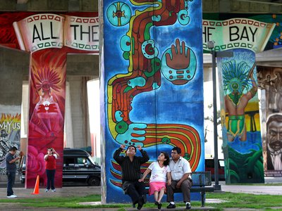 On April 22, 1970, a local community rose up after many unwanted intrusions into their neighborhood, including the building of the I-5 freeway. Today, Chicano Park with its monumental murals is a National Historic Landmark.