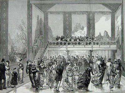 The interior of the 1876 Glaciarium