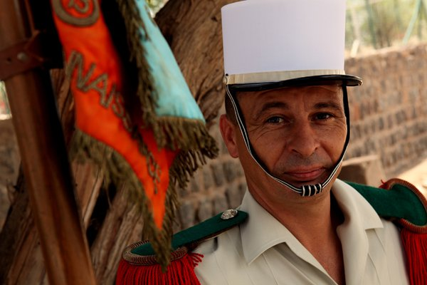 A member of the French Foreign Legion's 13DBLE poses for a portrait in Djibouti City, Djibouti. thumbnail