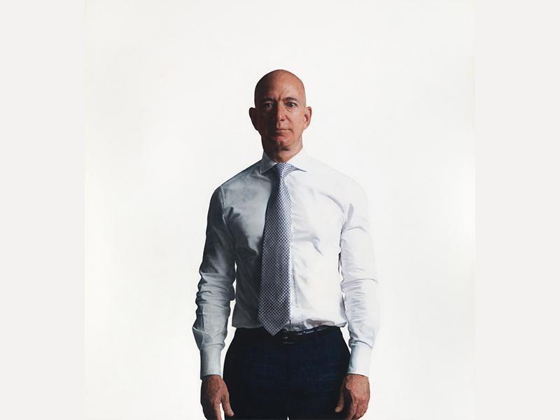 Robert McCurdy, photorealist portrait of Jeff Bezos