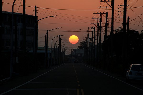 The sunset over my hometown thumbnail