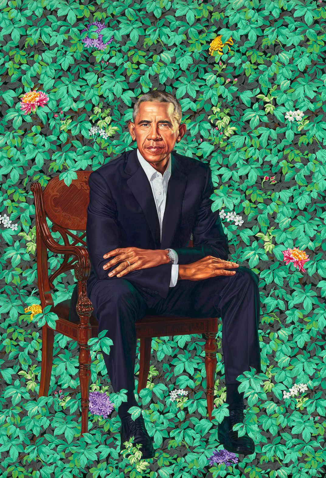 The Obamas' Official Portraits Break New Ground With Their Boldness