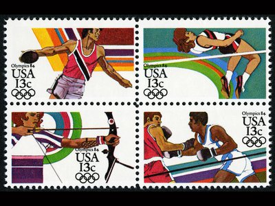 Scenes from the 1984 Los Angeles Summer Olympics.