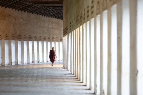 Monk at the Shwezigon Pagoda thumbnail