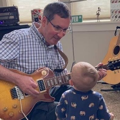 Teaching Grandson (age 11 months) the joy of music. thumbnail