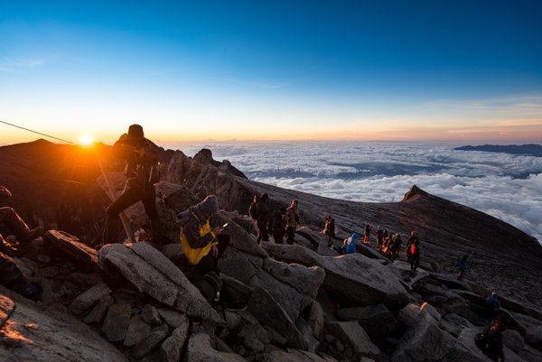 sunrise from the land above the cloud of Mount Kinabalu. thumbnail