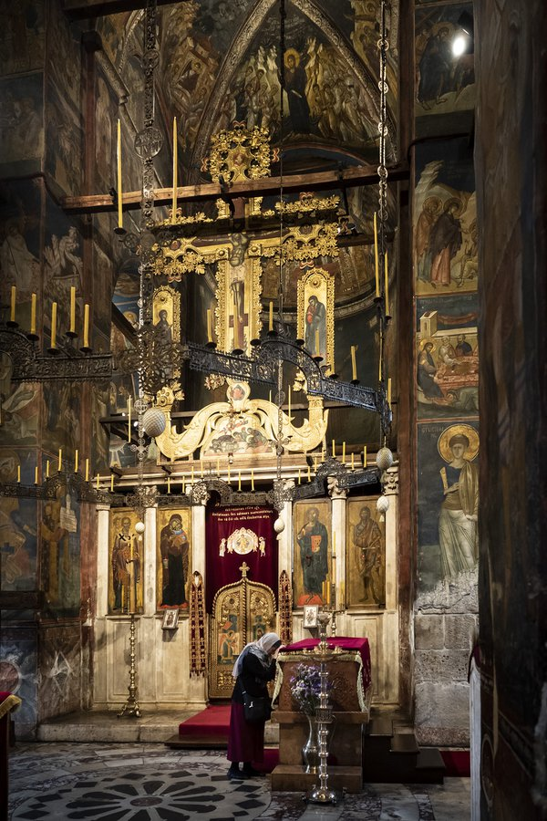 A quite moment with the relics of St. Stephen Dečani, Kosovo thumbnail