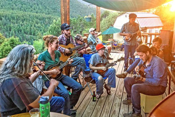 Bluegrass Jam in Taos, New Mexico thumbnail