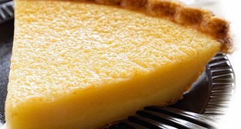 A slice of buttermilk pie