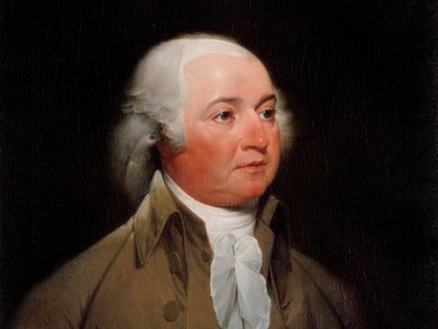 John Adams's official presidential portrait, painted circa 1792 by John Turnbull.