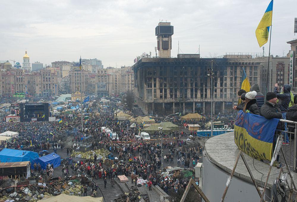 Ukraine's Independence Square February 23