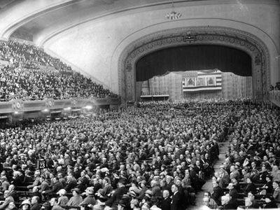 Republican Convention in session, Cleveland Public Auditorium, 1924