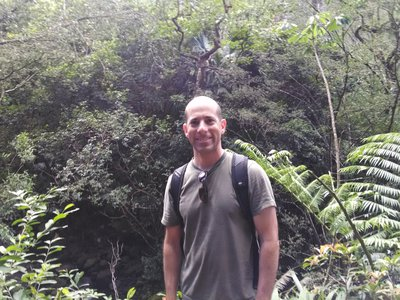 Gary Krupnick, Ph.D., Head of the Plant Conservation Unit at the Smithsonian in the field.