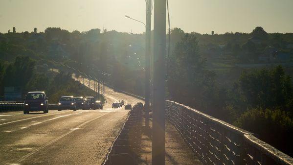 Semiluksky bridge over the Don river in summer thumbnail