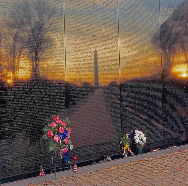 Sunrise at the Vietnam Memorial thumbnail