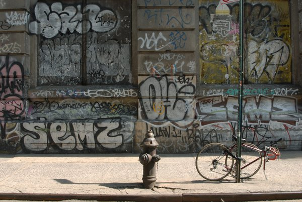 A sidewalk on the Lower East Side of New York City. thumbnail