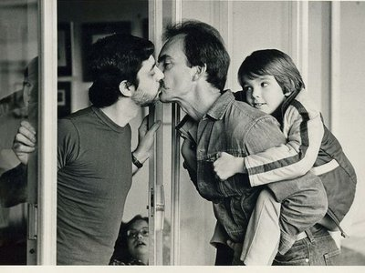 Gay Dads Kissing by J. Ross Baughman