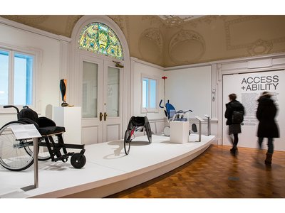 """""""Access+Ability"""" features more than 70 works, from an aerodynamic racing wheelchair to a vibration-activated shirt that allows the deaf to experience sounds, and covers the wide range of innovations occurring in accessible design."""