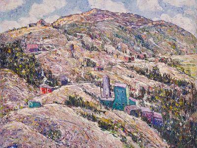 Ernest Lawson's Gold Mining, Cripple Creek