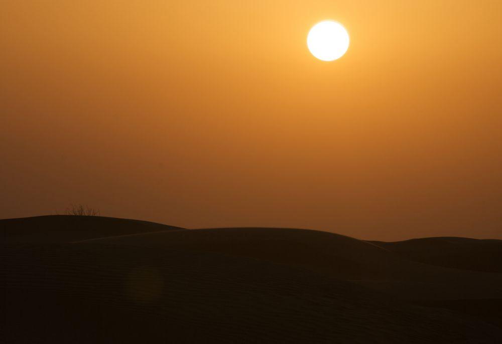 sun in a desert