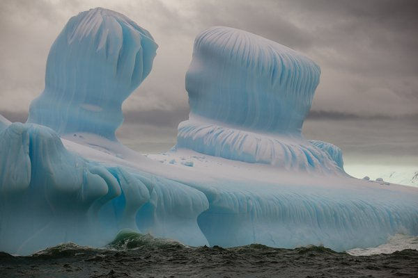 Twin icebergs in the Antarctic Ocean. thumbnail