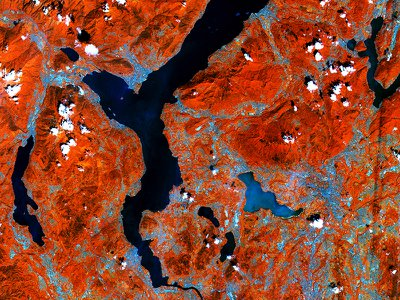 An image of the Italian Alps, snapped in June by the ESA's Sentinel-2, could be used in biodiversity studies.