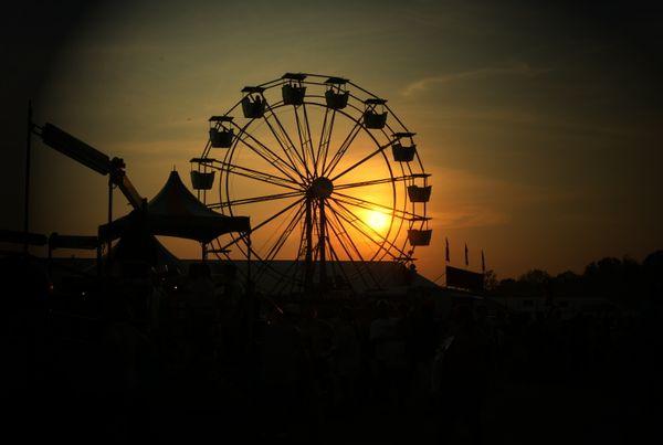 Sunset at the county fair. thumbnail