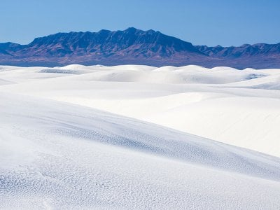 The dunes of White Sands National Monument stretch for hundreds of miles in New Mexico.