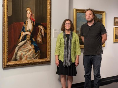 Researchers at the Spencer Museum of Art in Lawrence, Kansas, have attributed the painting to British portraitist and illustrator John Vanderbank