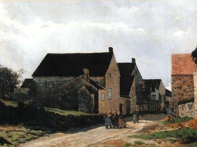 Alfred Sisley - Street of Marlotte (1866)