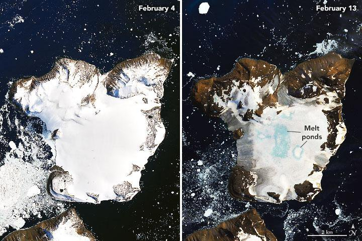 Melting Glaciers Reveal a New Island in Antarctica