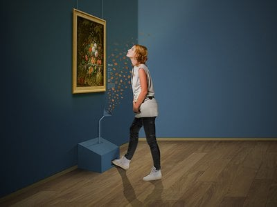 At the new exhibition at the Mauritshuis in The Hague, scent dispensers will let viewers smell scents associated with the paintings.