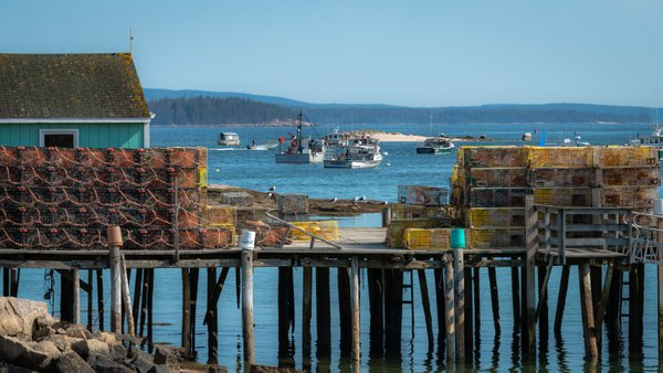 Lobster Dock Stonington Maine thumbnail
