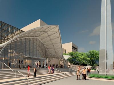 Sleek new entranceways will grace the refurbished museum.