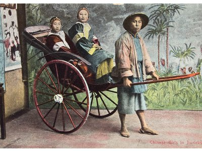 """""""The Traveler's Eye: Scenes from Asia,"""" at the Sackler Gallery through May 2015, features more than 100 mementos from travels around the Asian continent. This postcard is from early-20th-century China."""