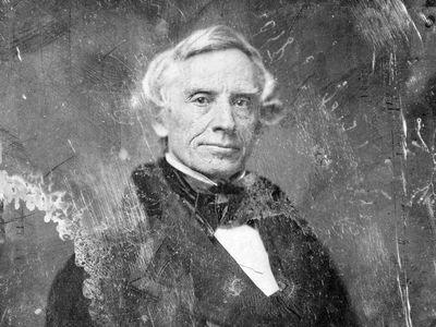 A daguerreotype portrait of Samuel Morse by his student, Mathew Brady, circa 1844-1860.