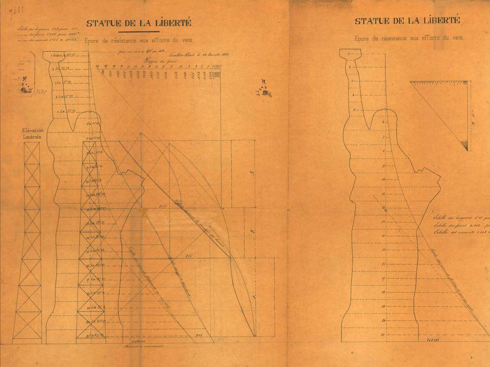Eiffel sketch showing bulky shoulder