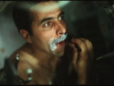 Shaving was something of a job on all the Apollo missions because in Zero-G, water doesn't just run off the face.