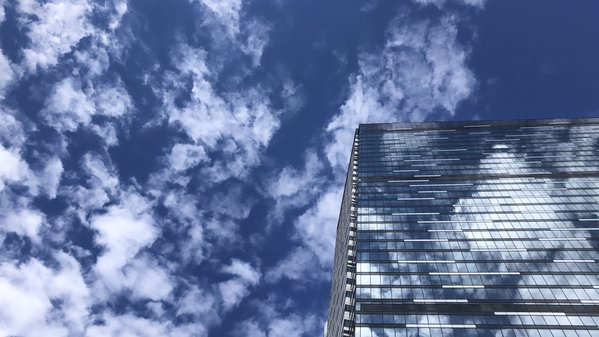 A cloudy skyscraper in Moscow's Financial District thumbnail